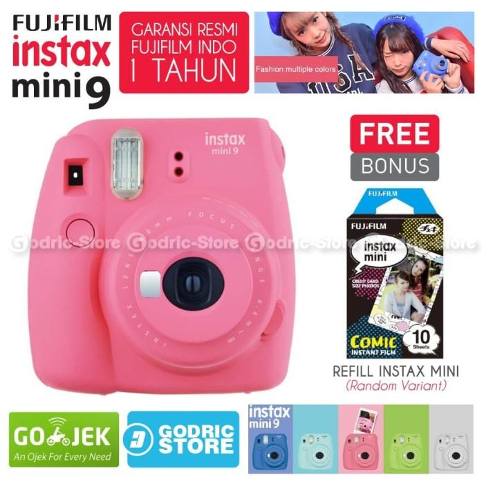 harga Fujifilm instax mini 9 kamera polaroid instant flamingo pink free film Tokopedia.com