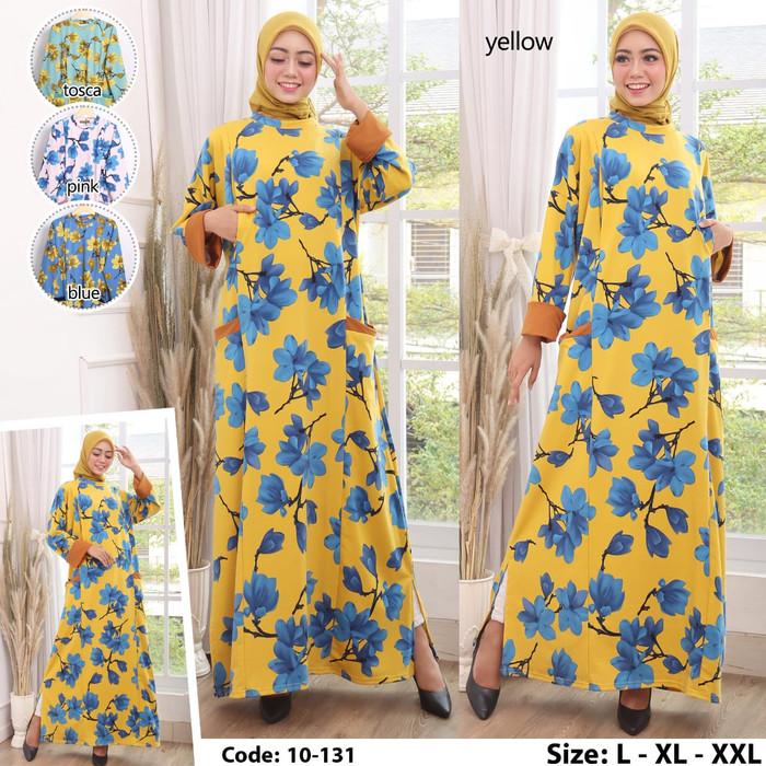 Foto Produk Baju muslim gamis original terbaru / Baju gamis wanita asli kaos impor - L dari Hemat waktu fashion