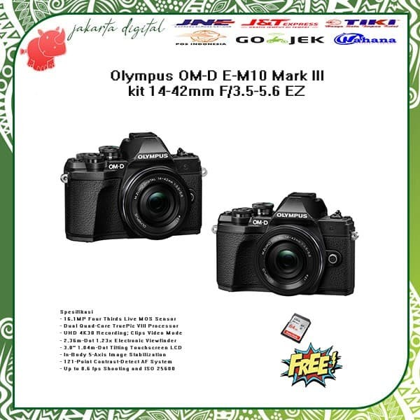 harga Olympus om-d e-m10 mark iii kit 14-42mm f/3.5-5.6 ez promo memory 64gb Tokopedia.com