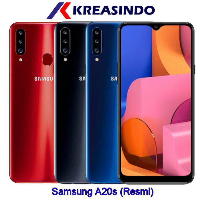 harga Samsung galaxy a20s 3/32 ram 3gb rom 32gb garansi resmi sein - hitam Tokopedia.com