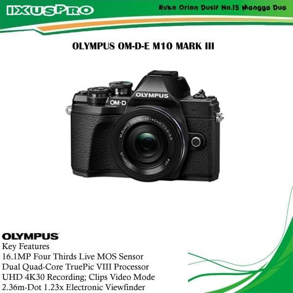 harga Olympus om-d-e m10 mark iii kit 14-42mm kamera mirrorless Tokopedia.com