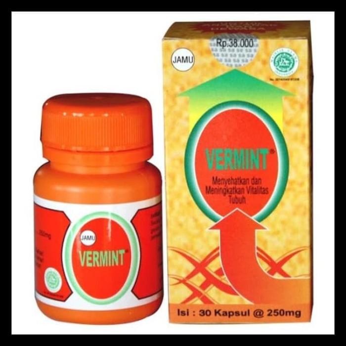 Foto Produk Vermint Isi 30 Kapsul Original Obat Tipes Typus Tipus Kode 713 dari MirzaX premium outlet