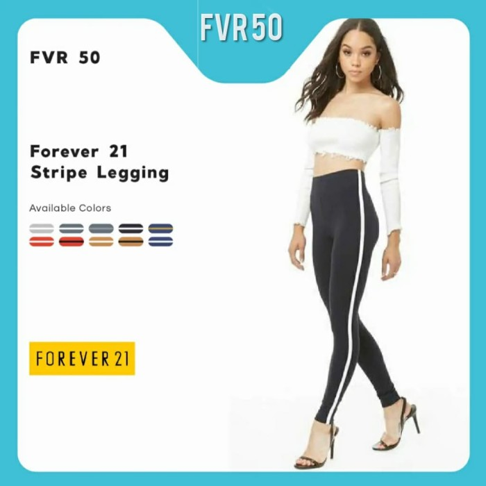 Jual Legging Forever 21 Stripe F21 Legging Wanita Casual Olahraga Yoga Jakarta Utara Lilinesia Tokopedia