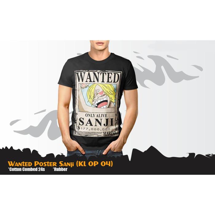 Jual Kaos Anime One Piece Wanted Poster Sanji Tshirt Kl Op 04 Kota Yogyakarta Armor Shop Tokopedia