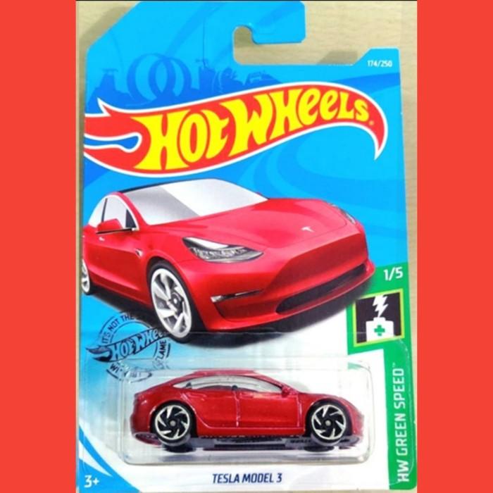 Jual Hot Wheels Tesla Model 3 Red 174 P2019 Jakarta Timur Jakartahotwheels Tokopedia