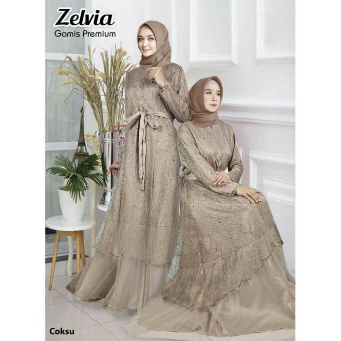 Jual Gamis Pesta Mewah Zelvia Baju Gamis Cantik Longdress Elegan Baju Pesta Jakarta Barat Rahmaniyahijab Tokopedia