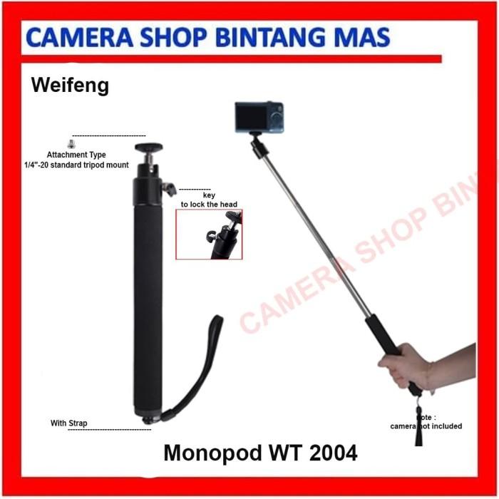 Foto Produk Monopod WT2004 weifeng for Pocket Camera dari Camera Shop Bintang Mas