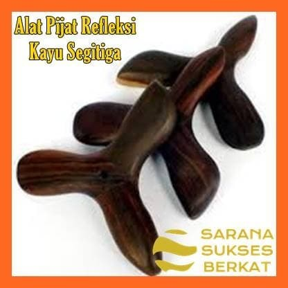 Foto Produk Alat Pijat Kayu Segitiga untuk Refleksi dari Sarana Sukses Berkat