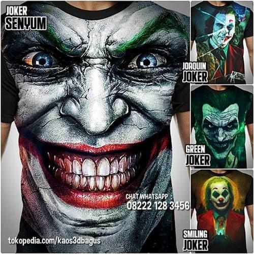 Jual Kaos Joker Kaos Gambar Joker Hitam M Kota Bandung