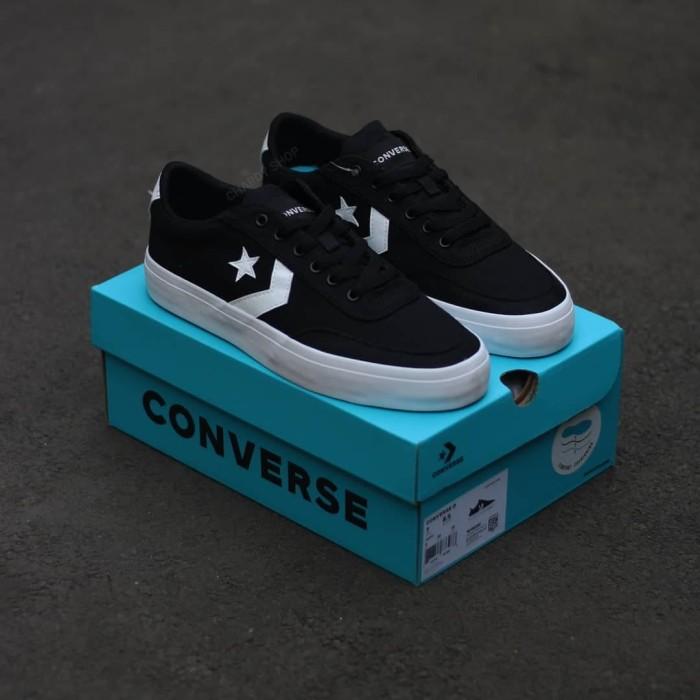 Jual Converse Courtlandt Ox Black White
