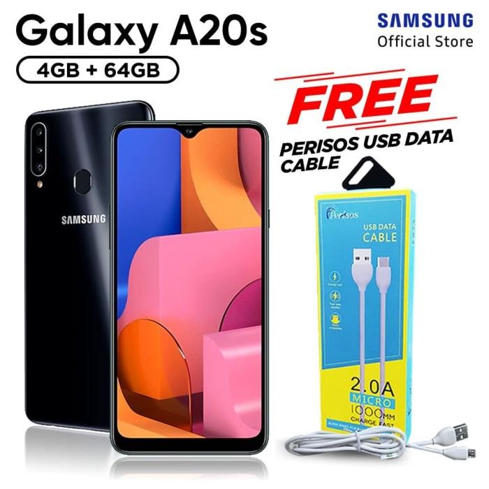harga Samsung galaxy a20s 4/64gb free perisos micro usb cable - garansi sein - hitam Tokopedia.com