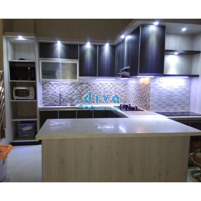 Jual Kitchen Set Alumunium Pemasangan Bu Dhian Solo Kota Surakarta Diva Metal Interior Solo Tokopedia