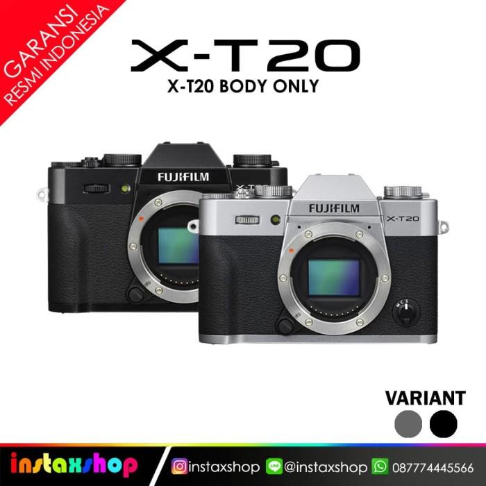 harga Fujifilm xt20 silver body only black - promo satu Tokopedia.com