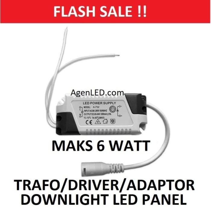 Foto Produk DRIVER ADAPTOR TRAFO 6W LAMPU DOWNLIGHT LED PANEL 6 W 3 BALAST 6 WATT dari AgenLED