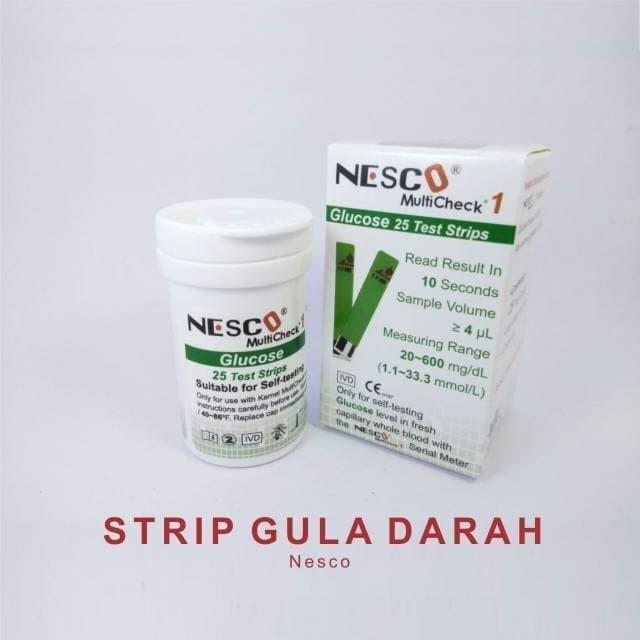 Foto Produk (m) strip gula darah nesco/ strip glucos/stik gula darah nesco dari MMTAlkes
