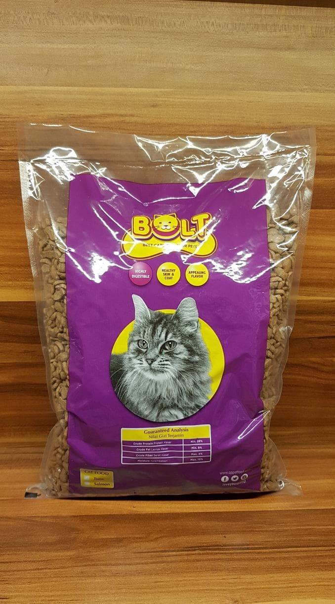 Jual Makanan Kucing Pakan Kucing Bolt Repack 1kg Bentuk Ikan Jakarta Barat Irawan Jaya1 Tokopedia