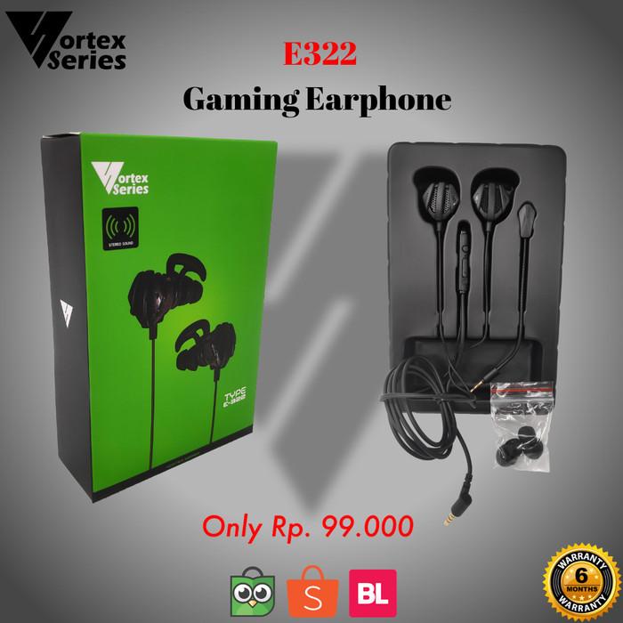 Foto Produk VortexSeries E322 Gaming Earphone - Hitam dari VortexSeries