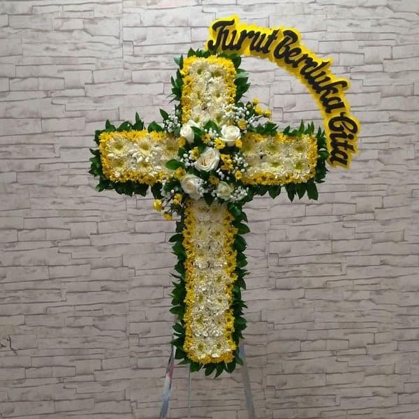Jual Bunga Standing Salib Dukacita Duka Cita Florist Jakarta Free Ongkir Jakarta Utara Kirimkirim Florist Tokopedia