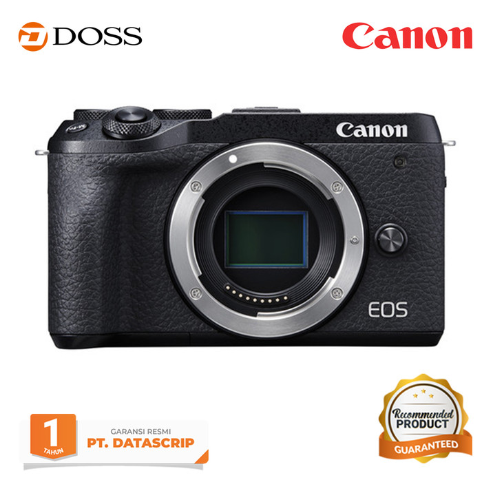 harga Canon eos m6 mirrorless digital camera body only / canon m6 - hitam Tokopedia.com