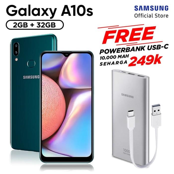harga Samsung galaxy a10s [2/32gb] free powerbank 10000 mah usb type c - hitam Tokopedia.com