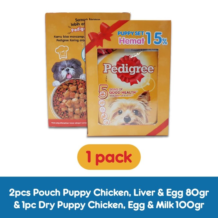 harga [paket promo] pedigree puppy makanan anjing isi 1 pack Tokopedia.com