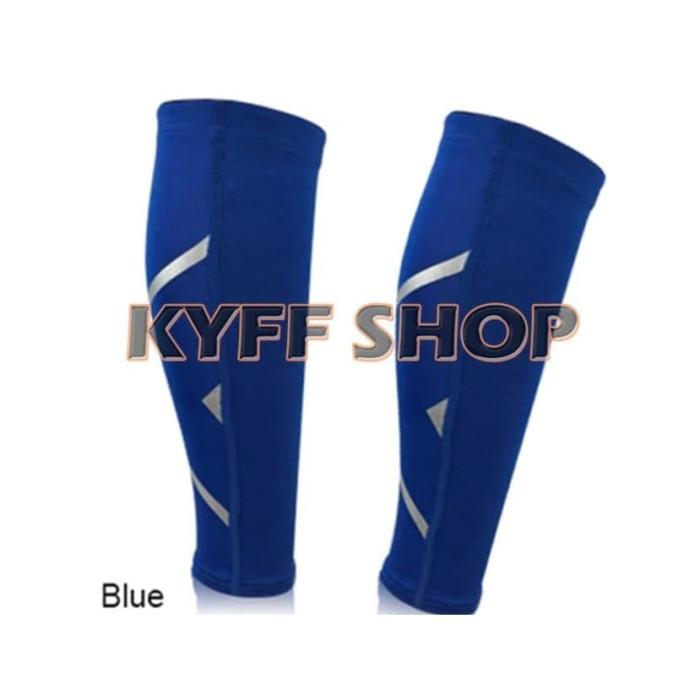 harga 2xu calf betis sleeve compression leg warmer blue - l Tokopedia.com