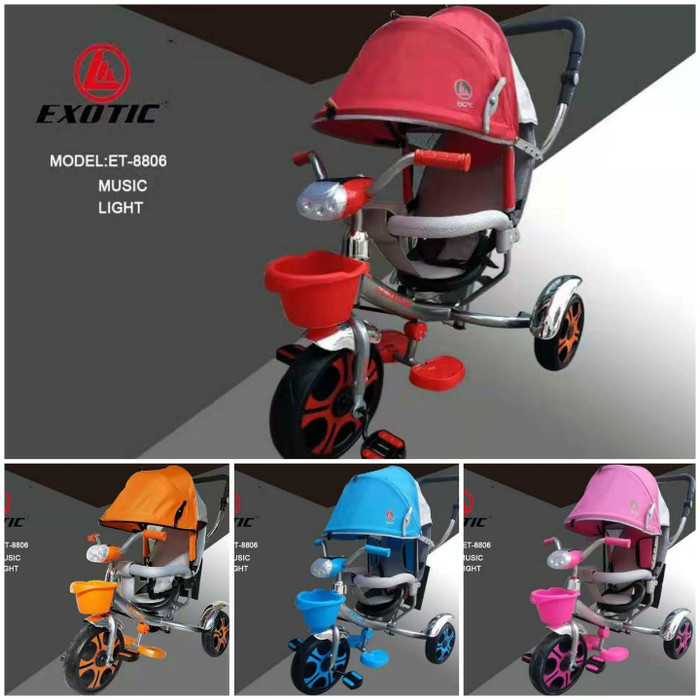 Jual Sepeda Anak Roda Tiga Anak Exotic ET8806 - Jakarta