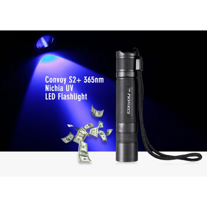 Convoy S2 Nichia UV 365nm LED Flashlight Currency Detector Lightweight Torch