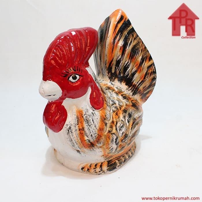 Foto Produk Celengan ayam jago tradisional orange gold - S dari Toko Pernik Rumah