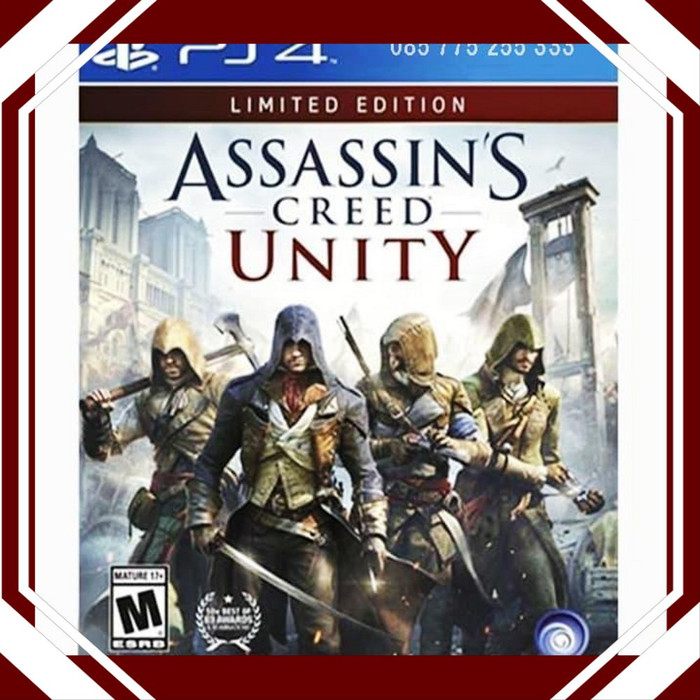 Jual Limited Ps4 Assassins Creed Unity Assassin Unik Berkualitas