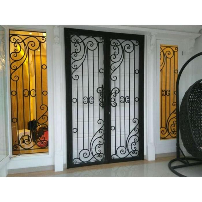Jual Teralis Pintu Dan Jendela Depan Minimalis Hitam Kab