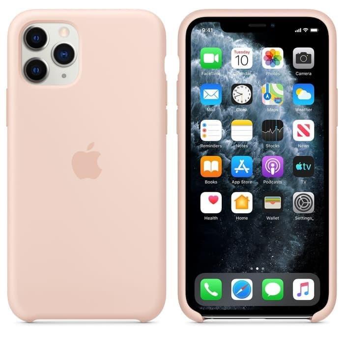 Jual Apple Iphone 11 Pro 5 8 Silicone Case Original Pink Sand Kab Tangerang Fc Accesories Tokopedia