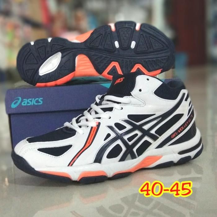Jual Sepatu Olahraga Volly Asics Gel Elite Putih Boot Kab