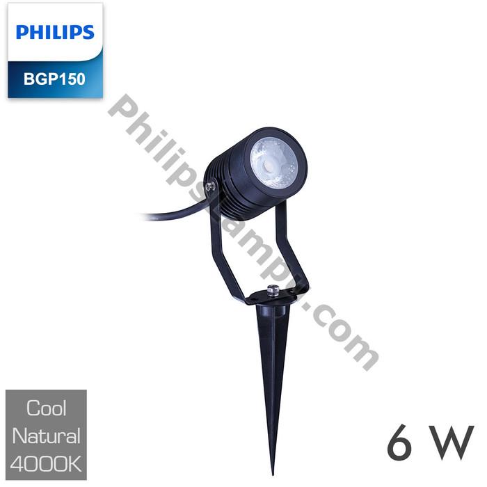 Foto Produk Lampu LED Sorot PHILIPS BGP150 6W 6 W LED Flood Light Taman Tancap - Semu dari philipslampu