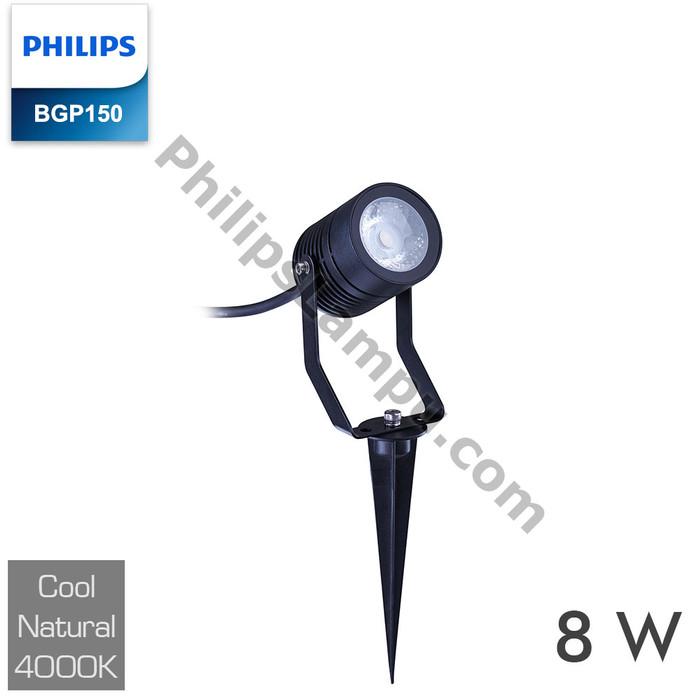Foto Produk Lampu LED Sorot PHILIPS BGP150 8W 8 W LED Flood Light Taman Tancap - Semu dari philipslampu