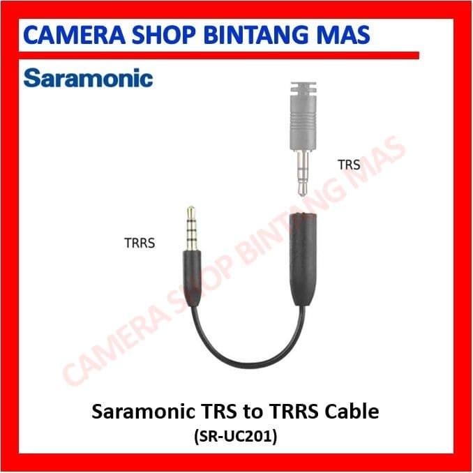 Foto Produk Saramonic TRS to TRRS Cable (SR-UC201) for Smartphone dari Camera Shop Bintang Mas