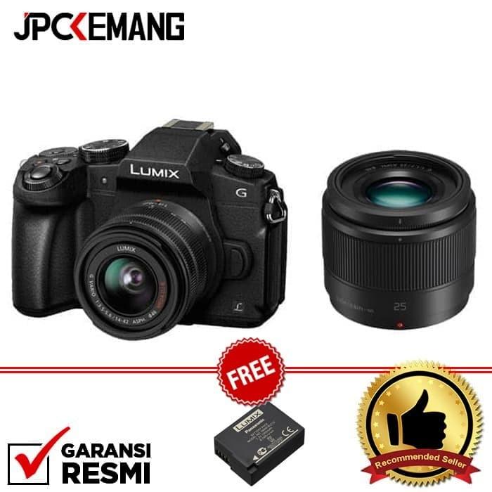 harga Panasonic lumix g85 kit 14-42mm + 25mm f/1.7 asph Tokopedia.com