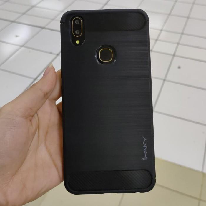 Foto Produk Casing Softcase Ipaky Carbon Vivo V9 Case - Hitam dari Indo Smart Acc