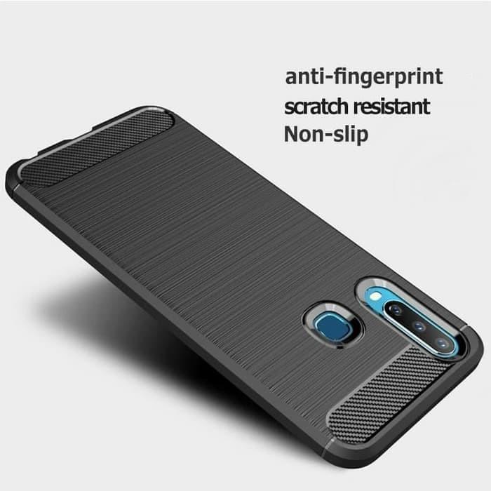 Foto Produk Casing Softcase Ipaky Carbon Vivo Y12 Case - Hitam dari Indo Smart Acc