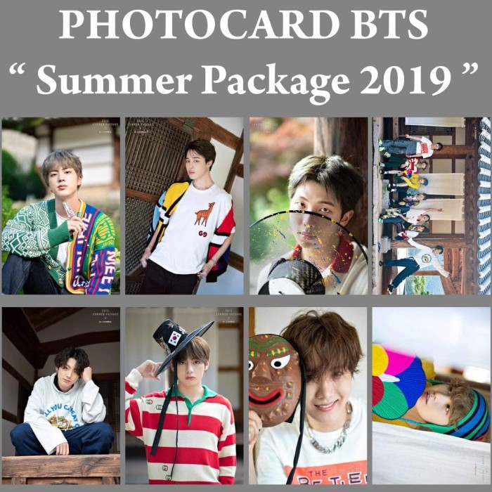 Jual Ready Stock Photocard Bts Summer Package 2019 Kpop Murah