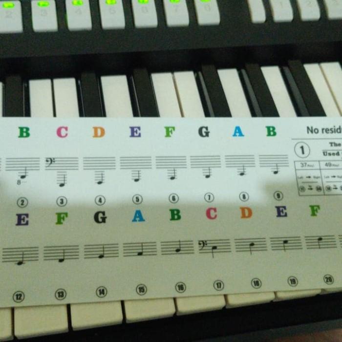 Jual Aksesoris Stiker Nada Notasi Balok Pada Tuts Piano Dan Keyboard Murah Kota Yogyakarta Warung Laris Tokopedia