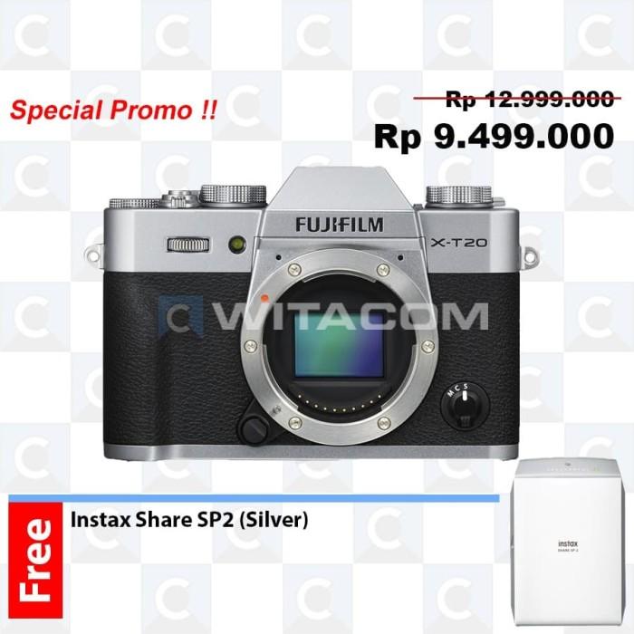 harga Fujifilm x-t20 / xt20 body only - silver Tokopedia.com