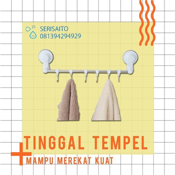 Foto Produk Rak Handuk Dinding Tempel Gantungan Handuk Kamar Mandi Unisoh Hook dari serisaito
