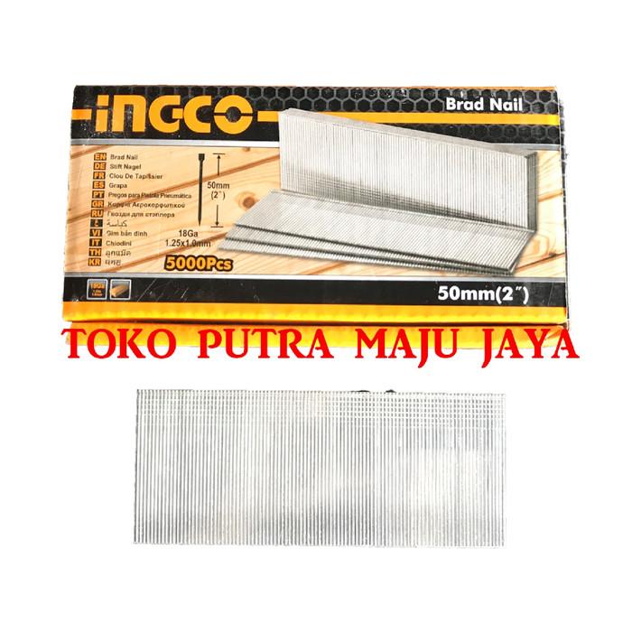 Foto Produk Paku I 50mm Air Nailer Gun Staples Angin Nailer 50mm INGCO GA18 dari Toko Putra Maju Jaya