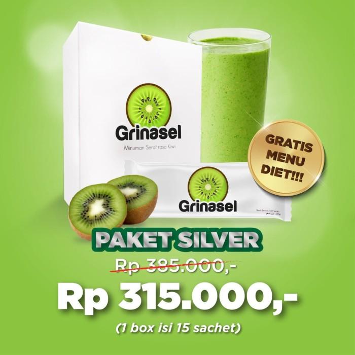 Foto Produk GRINASEL PAKET SILVER 1 BOX - MINUMAN SERAT UNTUK DIET dari DERMAGIFT CENTER