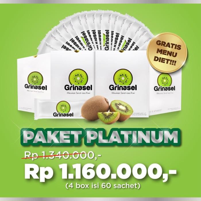Foto Produk Grinasel Paket Platinum 4 Box - Minuman Serat menurunkan Berat badan dari DERMAGIFT CENTER