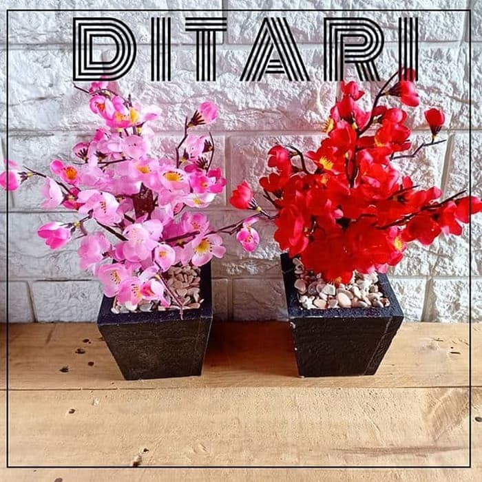 Foto Produk BONSAI SAKURA BUNGA SAKURA IMLEK ARTIFCIAL PALSU DEKORASI VARIAN - Merah Muda dari ikiaces