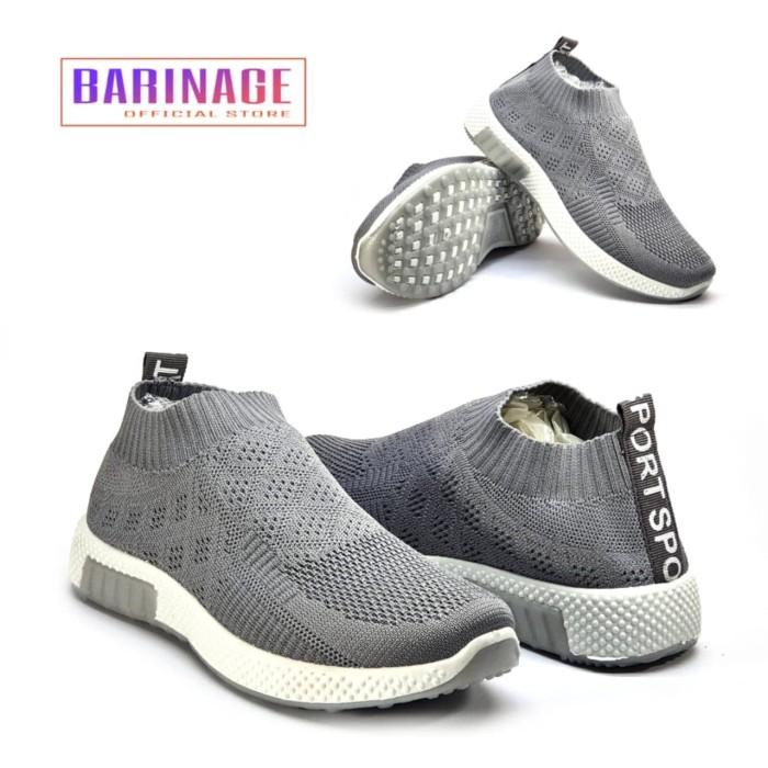 Kombinasi Warna Cat Rumah Abu Abu  jual sepatu wanita women sneakers shoes barinage gray abu abu murah kab bogor barinage official store tokopedia
