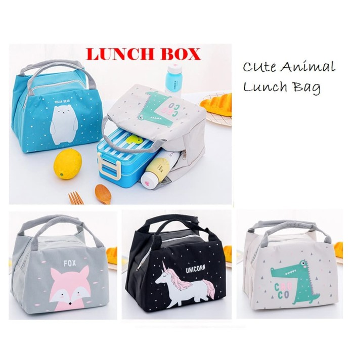 Foto Produk LB05 Lunch box Cute Animal Cooler bag / Tas Bekal Makanan / Cooler Bag - unicorn dari EnnWen Online Store