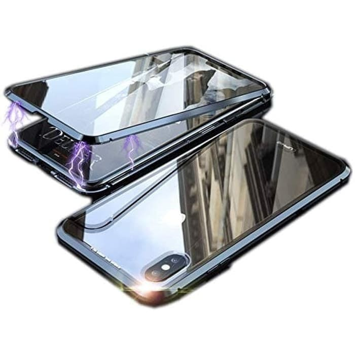 Foto Produk Samsung Galaxy M20 Hard Case Magnetic Glass Magnet Full Cover - Hitam dari SyamCall